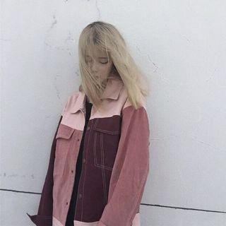 [INSTOCK] Red-Pink BF Korean oversized Jacket Outerwear