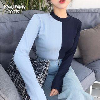 [INSTOCK] Colourblock Duo Korean Pullover Knit Long Sleeves Top Tee