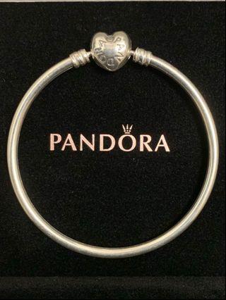 Pandora Bracelet 17cm 心型扣手鐲