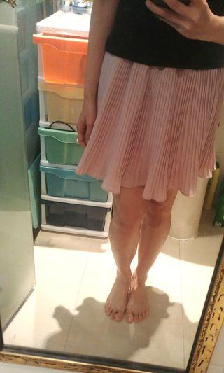 少女粉紅直紋裙褲(橡根頭)
