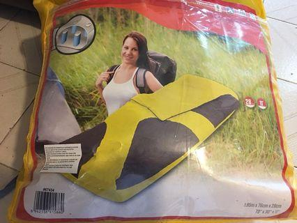 睡袋連可拆充氣床辱