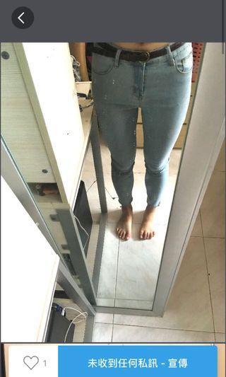 淺藍色牛仔長褲👖