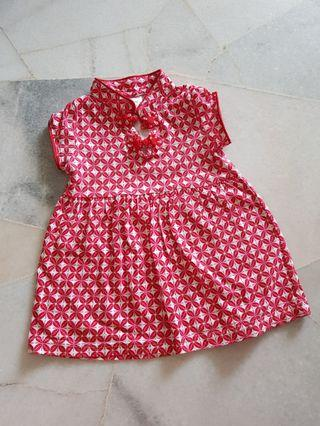 Red Cheongaam Baby Girl Dress (12-18m)