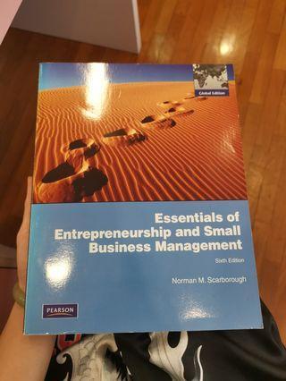 Entrepreneurship management textbook