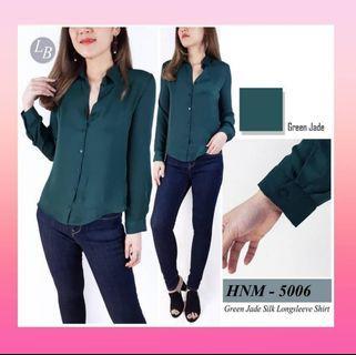 H&M Basic longsleeve - Dark Green