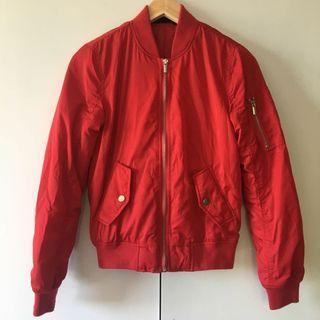size 6 jayjays red bomber jacket