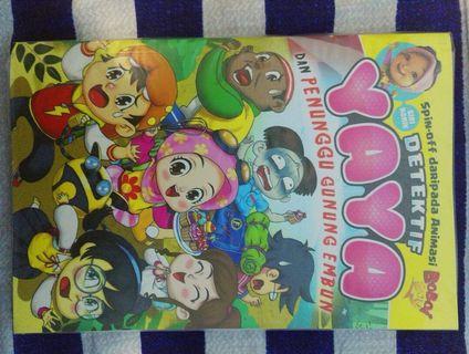 Nomik (Novel + Komik) Detektif Yaya dan Penunggu Gunung Embun dari Boboiboy