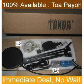 Condenser Microphone Set + Scissor Boom Arm stand  + Pop Filter
