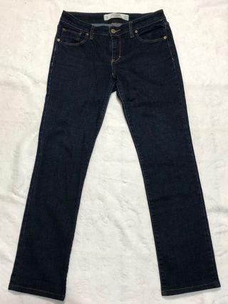 美國麋鹿 Abercrombie & Fitch A&F  W28 L33 二手合身原色牛仔褲