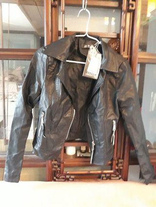 韓式膠皮外套