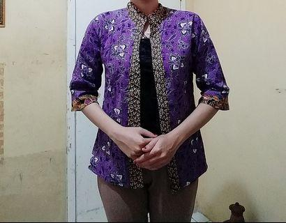 Blouse model bleazerr batik ( unik )