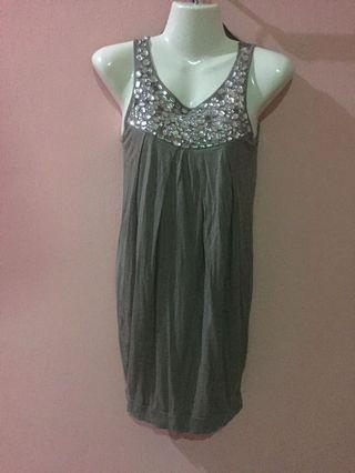 River Island Beaded Diamanté Shimmery Dress