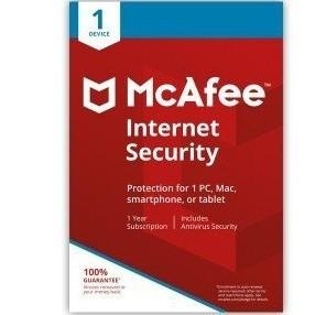 Mcafee Internet Security Antivirus 1 Year Subscription Multiple Devices