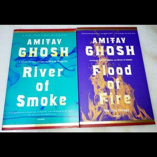 River of smoke and Flood of fire by Amitav Ghosh