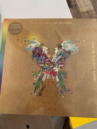Coldplay - A Head Full of Dreams (live in São Paulo and Buenos Aires 3 vinyl LP and DVD set