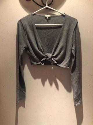 🆕grey crop cardigan