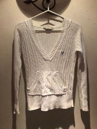 American eagle white top with hood