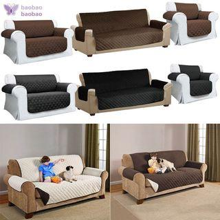 Quilted Sofa Arm Chair Anti Slip Cover Protector Throws