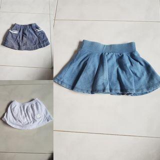 🚚 3 Skirts bundle 6m onwards