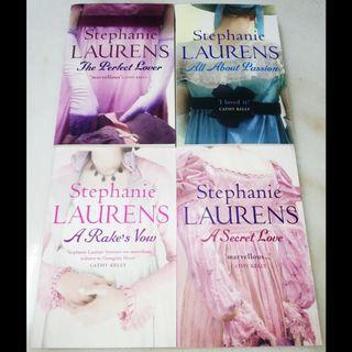 The perfect lover, All about passion, A rake's vow and A secret love by Stephanie Laurens