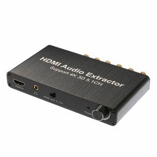 (J) HDMI Audio Extractor Support 5.1CH 4K 3D I to HDMI AC-3/DTS Decoder Adapter Box