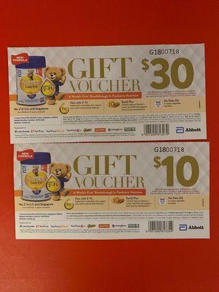 Similac Abbott Gain Kid Stage 4 Gift Vouchers