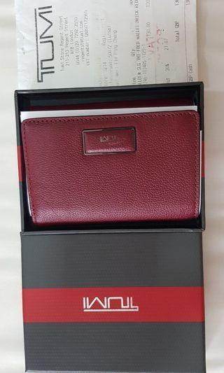 TUMI Brick Red wallet