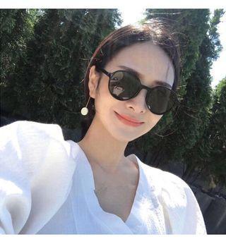 🚚 新款網紅同款圓型墨鏡復古太陽眼鏡遮陽防紫外線眼鏡