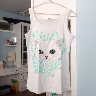 Tanktop motif kucing H&M