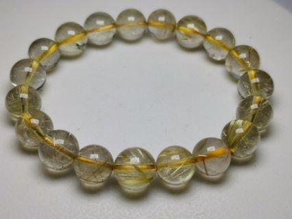 Golden Hair Clear Crystal Bracelet 金发晶