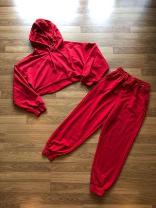 Red Sport Korean Set