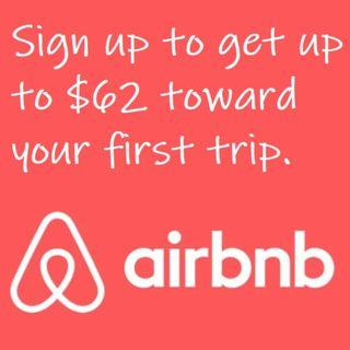 Airbnb free $62 travel credit for your 1st signup.  Please sign up using this url https://www.airbnb.com.sg/c/emmelinet56?currency=SGD
