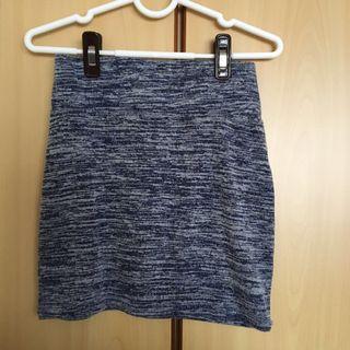 Blue bandage skirt