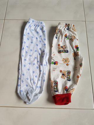 🚚 2 pc baby pj pyjamas 6m long pants