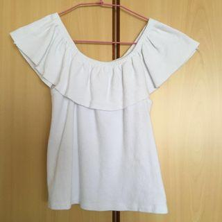 🚚 White Off Shoulder Crop Top