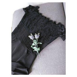 Lace sabrina dress