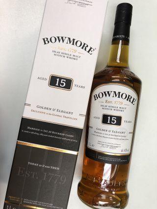 Bowmore 15 1st filled Bourbon Cask