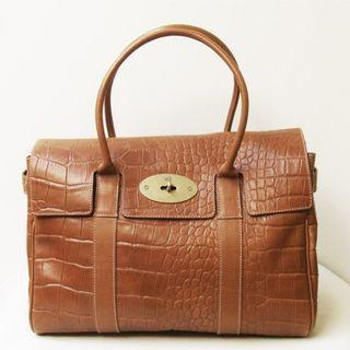 🔥RARE🔥 Vintage Mulberry Bayswater Croc Effect Bag