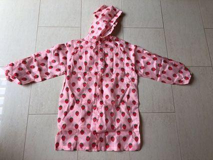 🚚 Girl's strawberry pink raincoat #ENDGAMEyourEXCESS