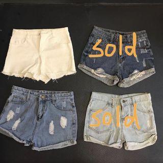 牛仔短褲 shorts