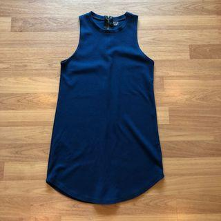 Dark Blue Dress/Long Top