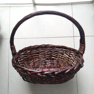💝特大過大禮花籃竹籐水果籃貓狗寵物床窩遊戲獎品籃結婚專用Bamboo basket fruit wedding gift pet's bed