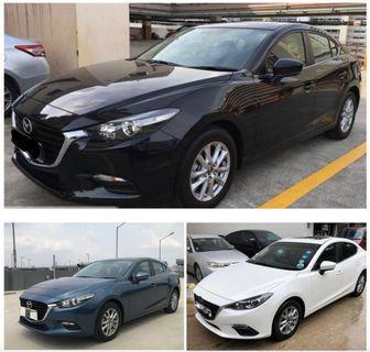 New Mazda 3 for rental