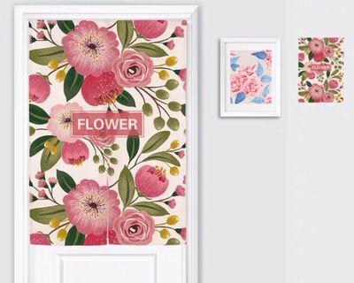 花朵北歐日式微裝潢門簾