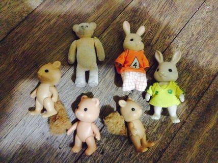 Sylvanian and bear set