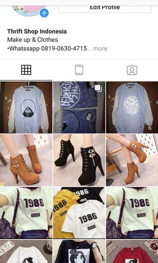 Thirftshop Indonesia Sweater, boots, kaos tumblr.