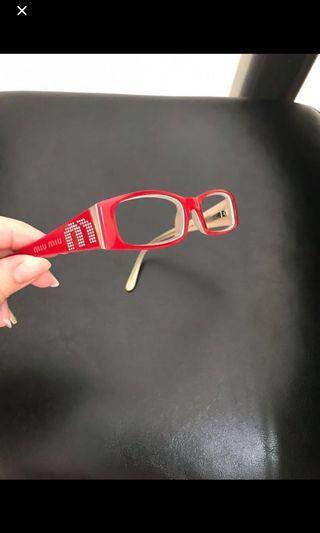 🚚 100% Authentic MIU MIU Plastic Frame