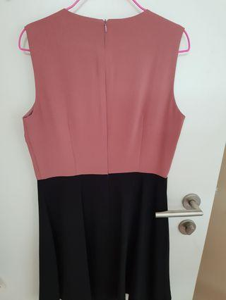 MGP the Label Pink and BLACK colorblock dress