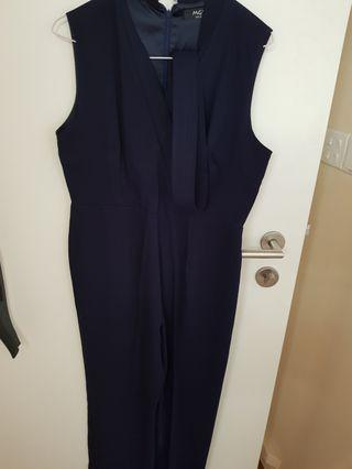 MGP THE LABEL Navy Blue Jumpsuit Kimono style with belt