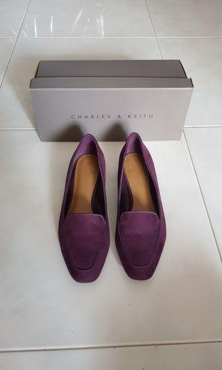 Charles and Keith Plum Flats